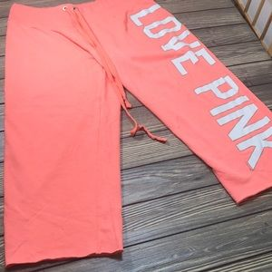 Pink Victoria Secret Capris